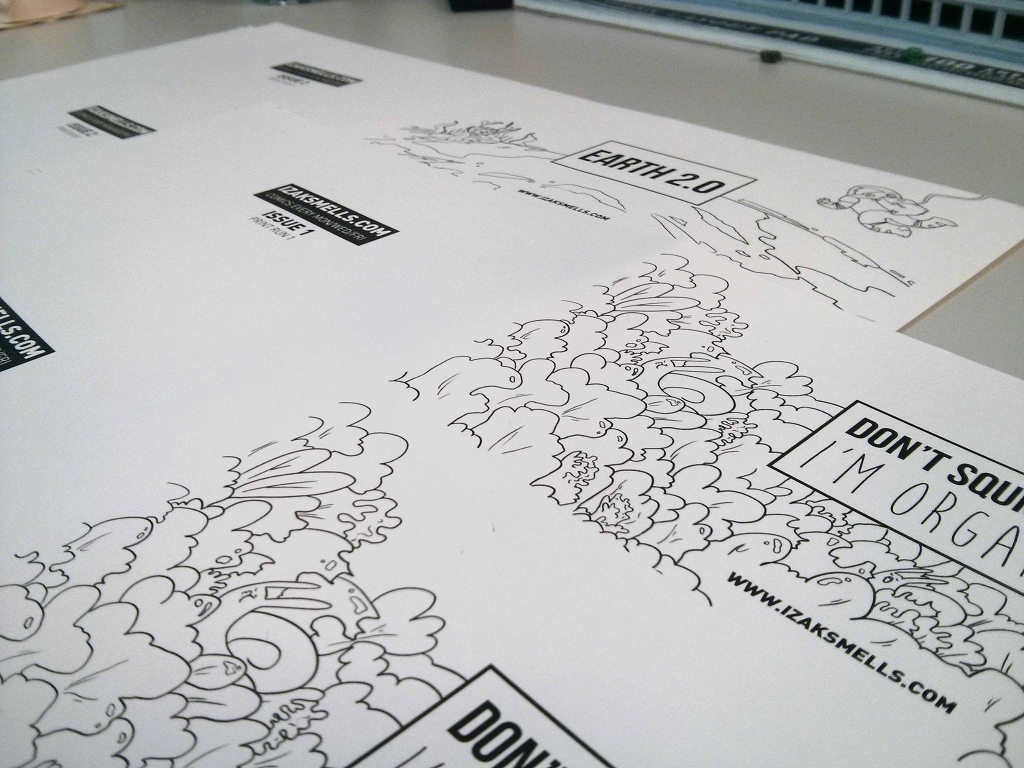 Izak Smells Comic Print out work in progress