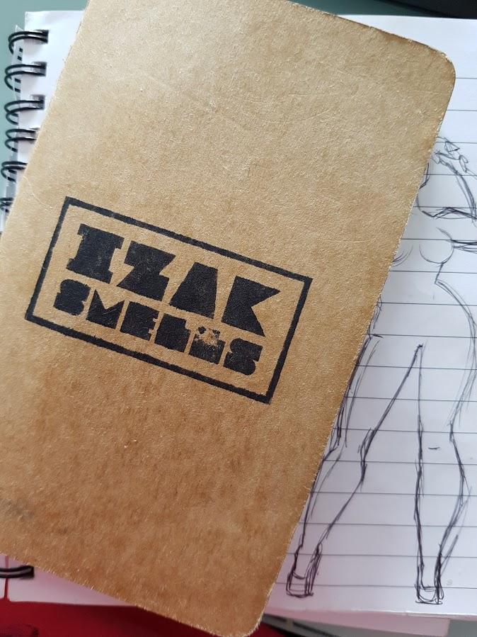 Izak Smells Moleskin Sketch (2)