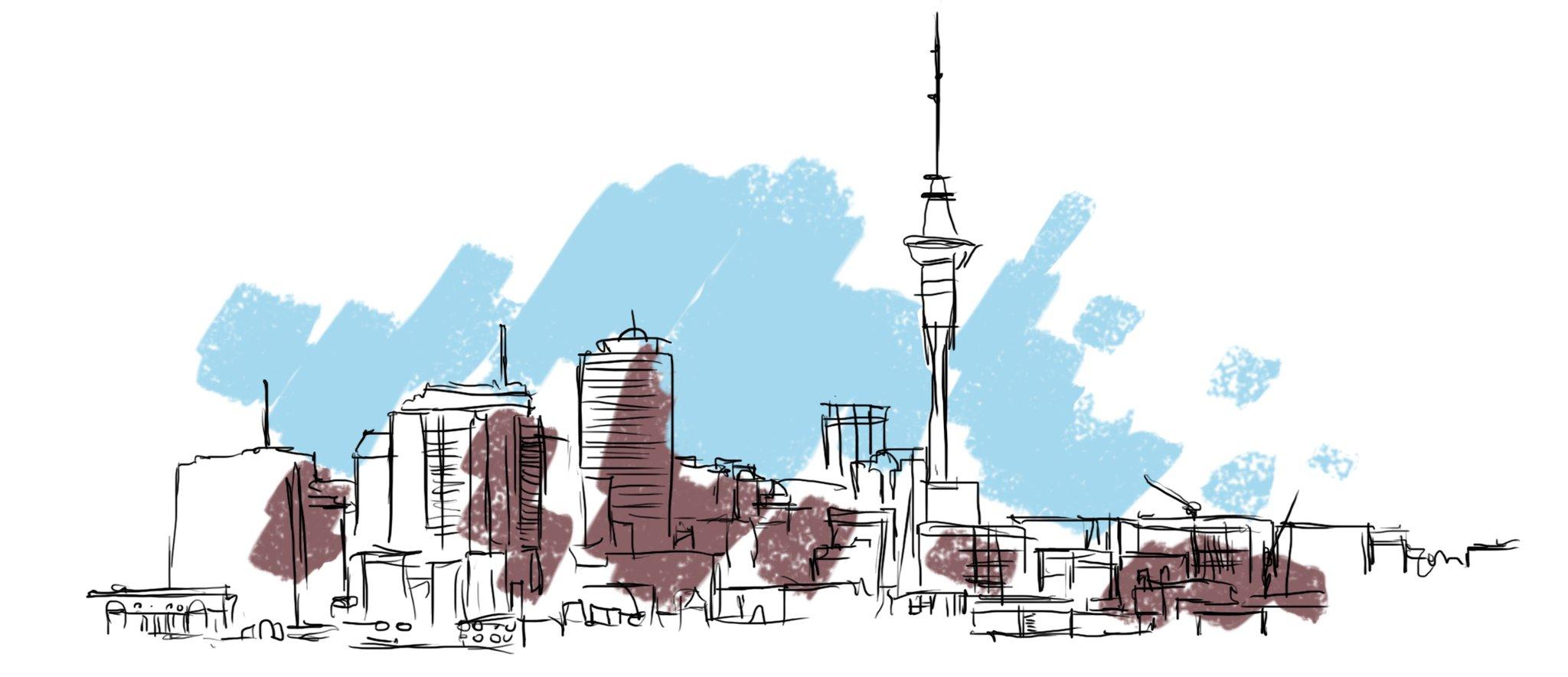 auckland-city-cityscape-drawing-sketch-izak