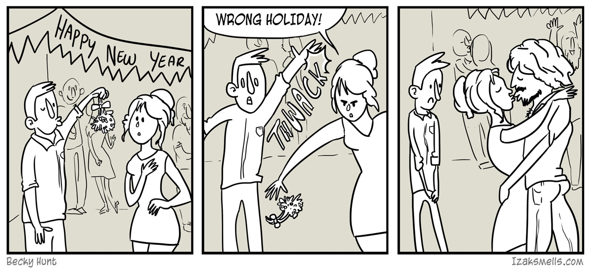 First rule to getting laid: know your holiday traditions.