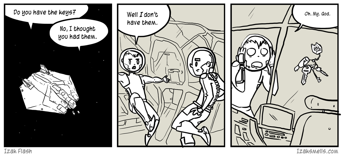 I don't even know why you locked it up. Space isn't exactly known for it's thieving foot traffic.
