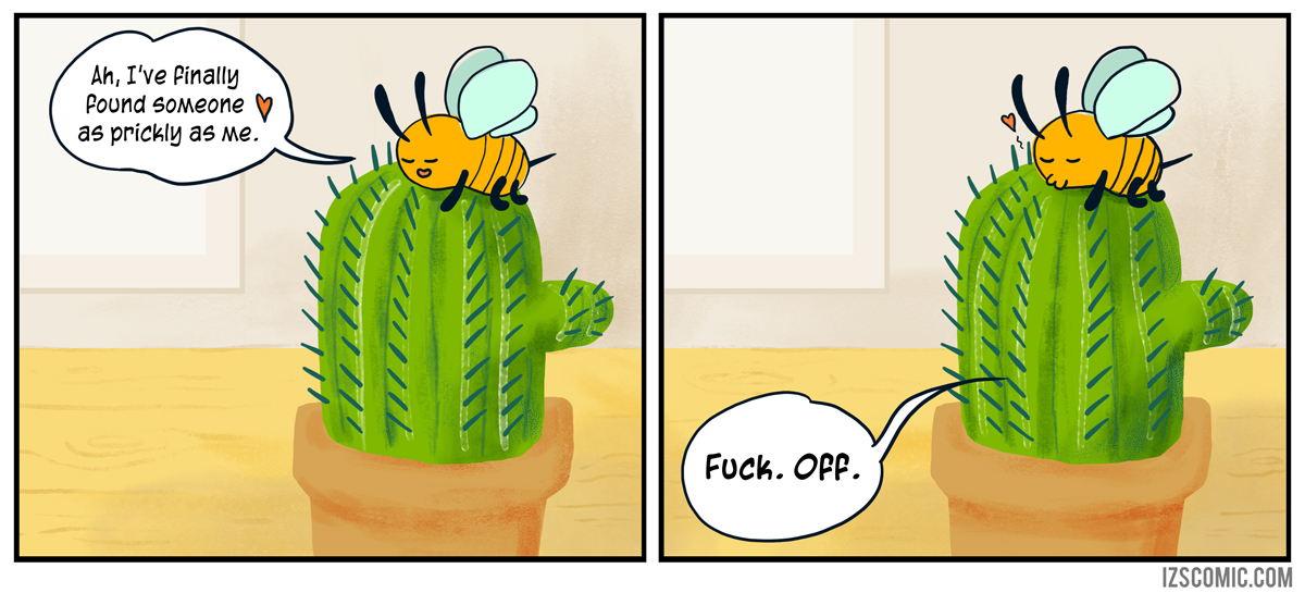 These aren't prickles, these are the bees I've consumed