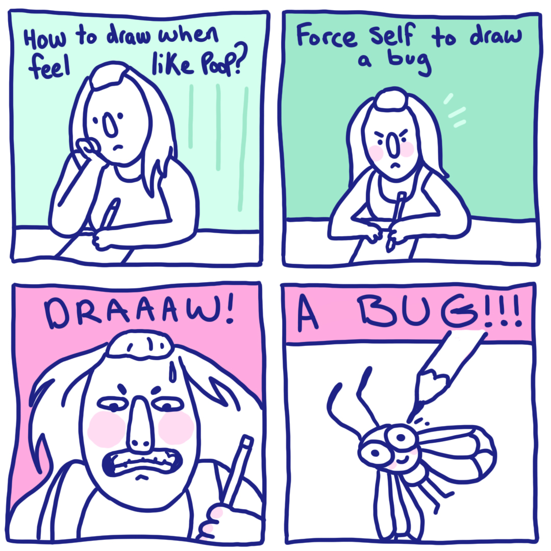 Force Self To Draw A Bug